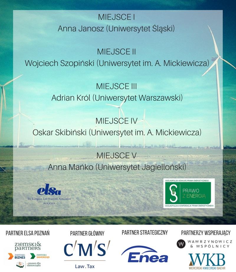 Lista finalistów - prawo z energią